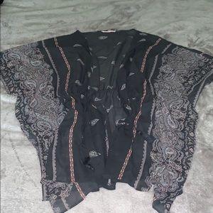 Women's swim cover up kimono